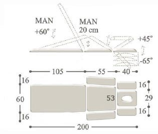 Массажный стол с электроприводом professional - m