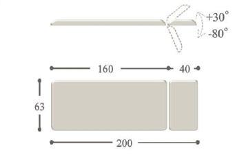 Массажный стол с электроприводом norma ― m