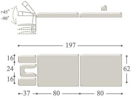 Портативный массажный стол compact medium
