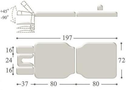 Переносной массажный стол compact maxi