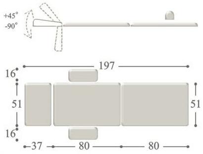 Массажный стол-чемодан compact osteopat